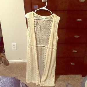 Beautiful full length lace vest M